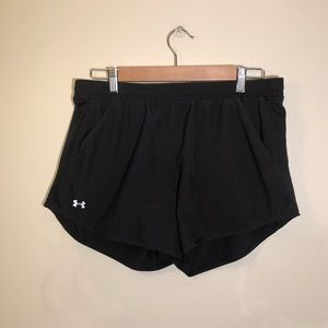 Under Armour shorts: black, large, good condition